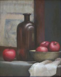 apples in brown
