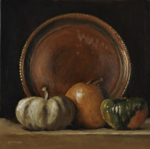 copper and gourds