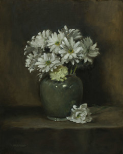 daisies in celadon