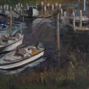 "late marine life $525 12"" x 12"" oil, unframed"