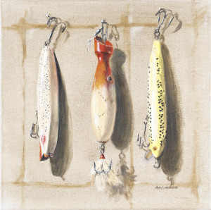 lures XI $525 oil on canvas unframed