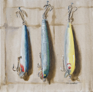 """lures X 12"""" x 12"""" oil on canvas unframed"""